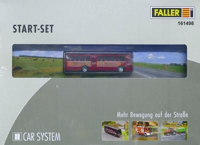 Faller Car System 161498-h0 CAR SYSTEM START-SET MB o317k bus Jägermeister-N
