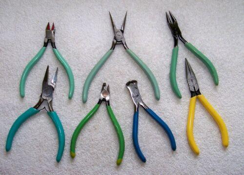 (7) EREM SWISS-KLEIN-UTIC-FM Quality Jewelers Electronics Pliers Nippers Tools