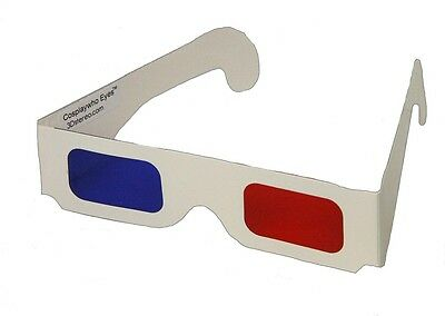 Doctor WHO - 10th Doctor 3D Glasses - Red Blue Cardboard - Cosplay - 10th Doctor Cosplay
