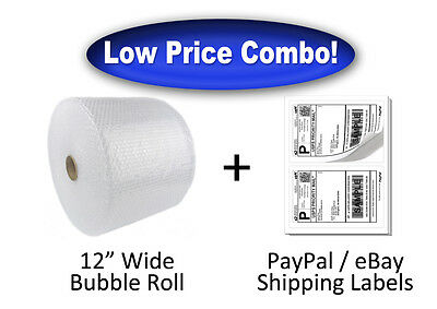 316 X 350 Ft Bubble Roll Cushion Wrap 200 Paypal Ebay Shipping Labels