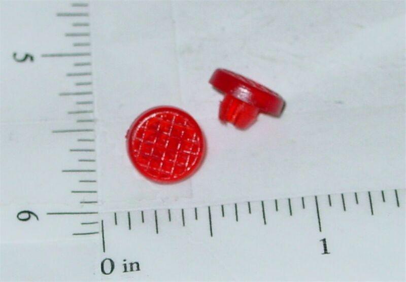 Pair Tonka Plastic Red Crosshatch Tail Lights Toy Part TKP-055