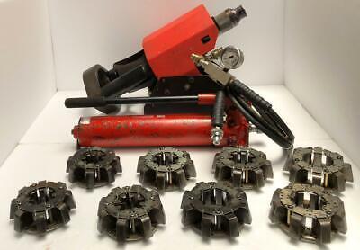Eaton Et-1280 Hydraulic Hose Crimper Crimping Machine With 8 Die Set Pump