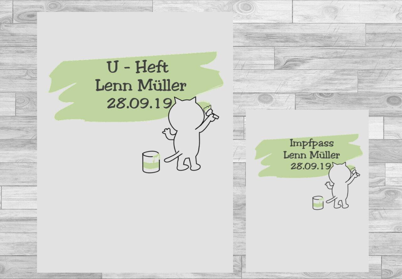 U-Heft Hülle Impfpass Hülle Set Uheft Untersuchungsheft personalisiert  mit Personalisierung