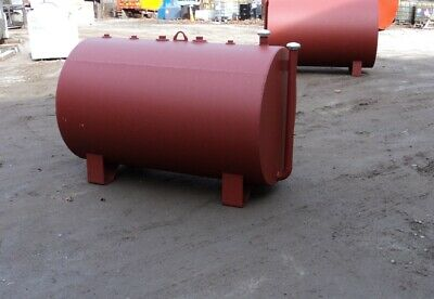 New 300 Gallon Above Ground Double Wall Fuel Oil Storage Tank Ul 142 On Supports