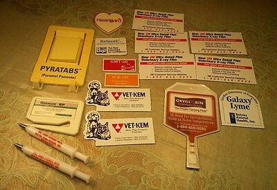 17 Vintage Advertising Medicine Vet Veterinary Heartgard magnets Ketaset Vet