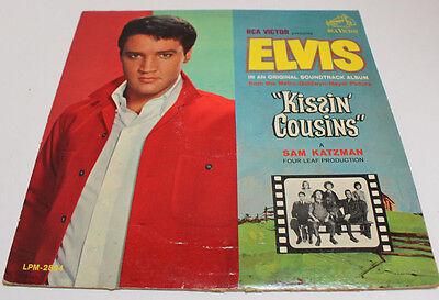 """VINTAGE Elvis """"Kissin Cousins"""" In an Original Soundtrack Album RCA Victor LPM-28"""