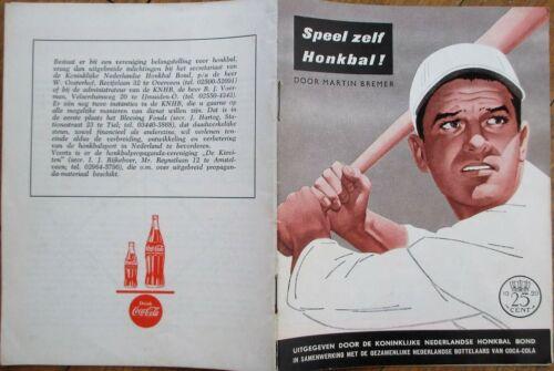 Baseball 1958 Booklet - Coke/Coca-Cola Advertising - Dutch/Holland/Netherlands