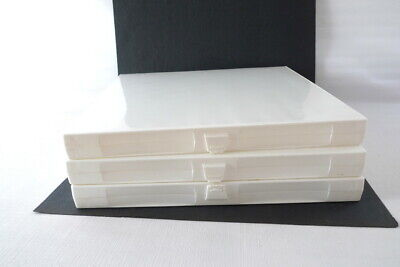 3 Unikeep 3-ring Binders Clear Overlay White Case 1 Stand Up File Winserts
