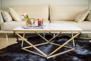 Marble Coffee Table Champagne Gold Mascot Rockdale Area Preview