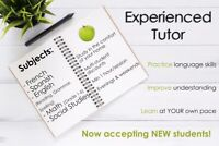 TUTOR: Accepting NEW students!