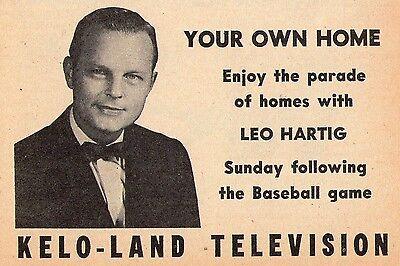1962 Tv Ad Leo Hartig Kelo Sioux Falls South Dakota Your Own Home Real Estate