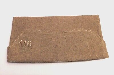 FRENCH MADE DOUGHBOY'S OVERSEAS CAP - 116th INFANTRY, 29th DIVISION