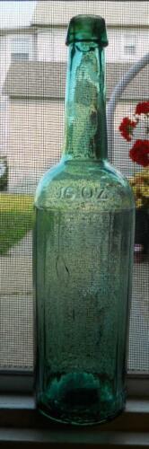 Beautiful 20 Sided Open Pontil Light Green Wm Underwood & Co Boston Sauce Bottle