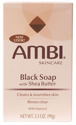 Ambi Black Soap with Shea Butter 3.50 oz (Pack of 3) (Ambi Black Soap)