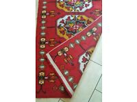Vintage Owl Bird Hand Knotted Rug