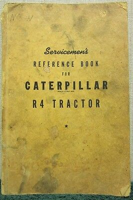 Vintage 1944 Caterpillar R4 Tractor Servicemens Reference Book Form 7535a