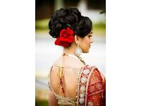Asian Bridal hair and Makeup incl eyelashes and hair pieces