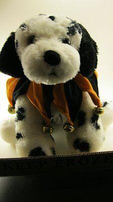 Small Pumpkin Jester Dog Pet Collar/Costume Bells Orange Black