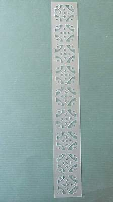 STENCIL Moroccan Flower Border NEW Mylar Airbrush Durable Reusable  -