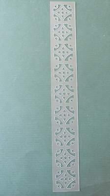 - STENCIL Moroccan Flower Border NEW Mylar Airbrush Durable Reusable  #173