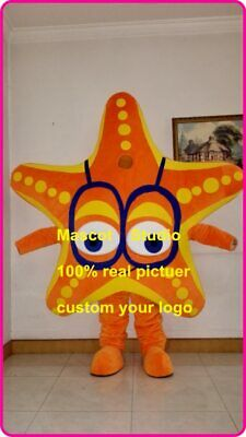 Star Fish Costume (Halloween Star Fish Sea Star Mascot Costume Custom Cosplay Mascotte Theme)