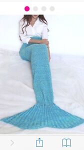 Aqua mermaid tail knitted blanket/throw Wollongong Wollongong Area Preview