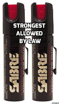 2 Sabre Professional Pepper Spray Self Defense Police Red Pocket Unit SA10022