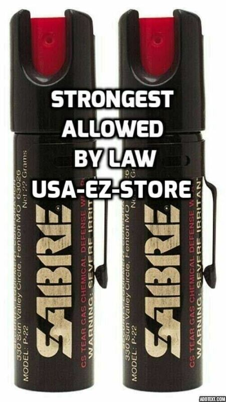 🔥2 Sabre Professional Pepper Spray Self Defense Police Red Pocket Protection🔥
