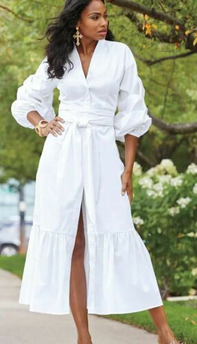 size 12 Farah White Maxi Dress from Ashro new
