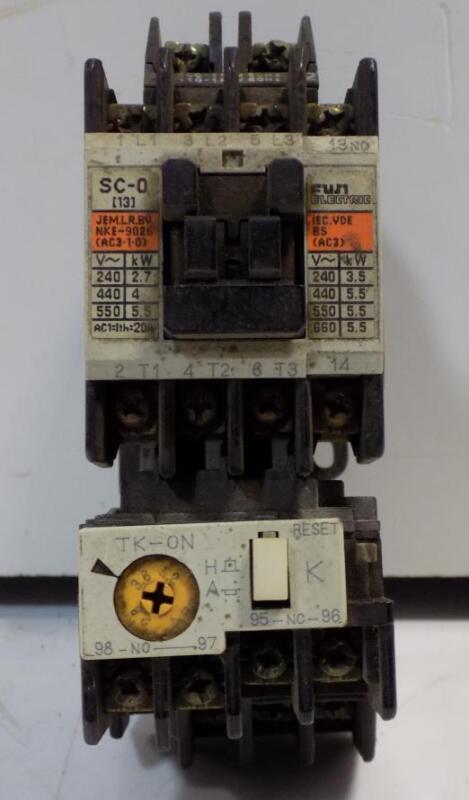 FUJI ELECTRIC CONTACTOR RELAY SC-0 / TK-ON