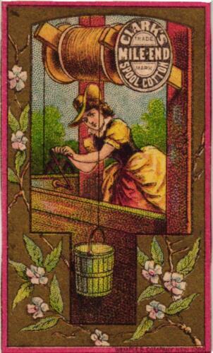 Victorian Advertising Card - Clark