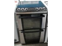NEW MODEL 55cm ELECTRIC COOKER ZANUSSI STAINLESS STEELEXCELLENT CONDITION ,4 MONTHS WARRANTY