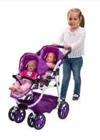Dolls double pram