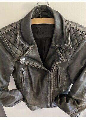 *STUNNING* AllSaints Ladies leather Jacket UK14 Black