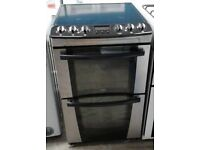 Zanussi stainless steel 55cm free standing electric cooker, 4 months warranty