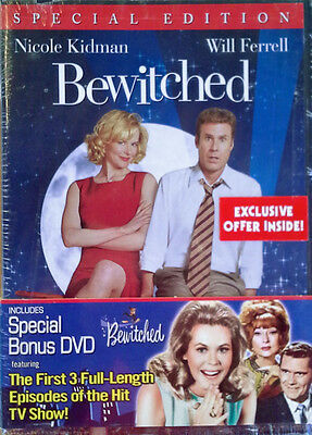 Bewitched  Movie     Tv Sampler     2  Dvd Set With Wrapper   Still Sealed