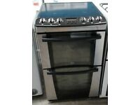 ZANUSSI STAINLESS STEEL FREE STANDING 55cm ELECTRIC COOKER, COMES WITH FOUR MONTHS WARRANTY