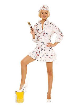 Paint Brush Costume (Painter Dress Hat Paint Brush! Women Costume Man Paint Shirt & Hat)