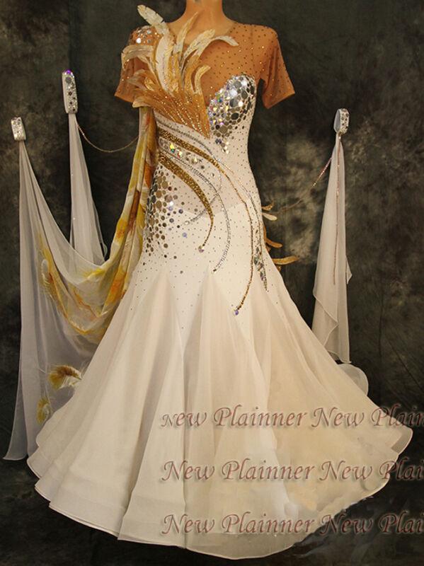 B5110 Ballroom Modern swing  Waltz Tango  Rhythm us 6 Dance Dress short sleeve
