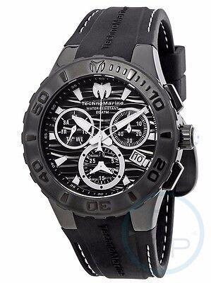New Mens Technomarine 115081 Cruise Medusa Swiss Black White Dial Watch