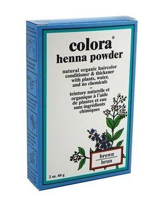Colora Henna Powder Hair Color Brown, 2 oz