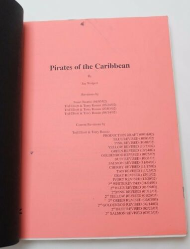 Pirates of the Caribbean: The Curse of the Black Pearl * 2003 Movie Script