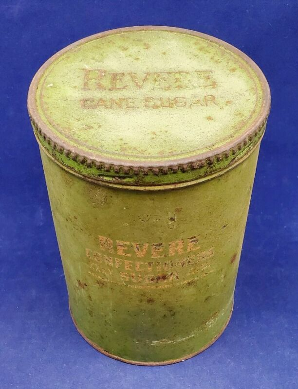 Vintage Revere Confectioners Cane Sugar Tin Canister