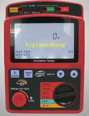 High Voltage 2.5kv 99.9g Ohm Insulation Resistance Tester Meter Megger Gm3123