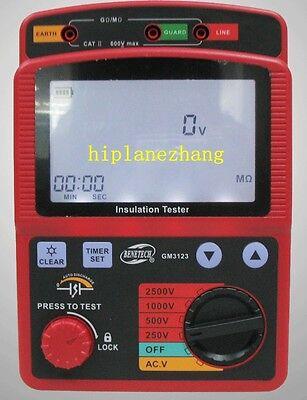 High Voltage 2.5kv 99.9g Ohm Insulation Resistance Tester Meter Megger Gm3123