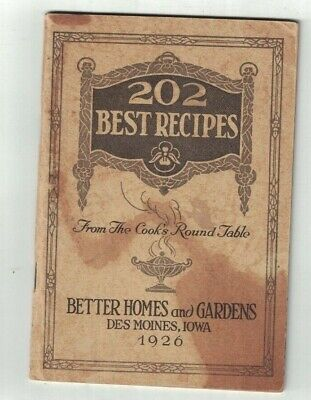 202 Best Recipes From the Cook's Round Table 1926 Better Homes & (The Best Dining Tables)