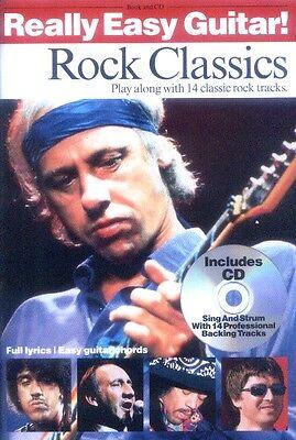 Really Easy Guitar! Rock Classics Songbook mit CD für Gitarre leicht