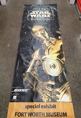 "Star Wars C3PO Robot Theater Museum Large Vinyl Teaser Banner 29"" x 95"", used for sale  Bryan"