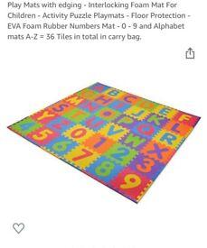 Alphabet foam play mat