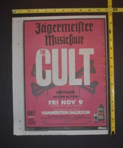The Cult 2007 Concert Ad Vietnam Action Ation Jagermeister Music Tour NYC